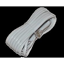 Шнур телефонный 6P4C - 6P4C 7.0м линейный, белый
