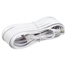 Шнур телефонный 6P4C - 6P4C 5.0м линейный, белый