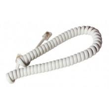 Шнур телефонный 4P4C - 4P4C 2.0м витой, белый