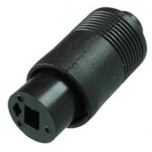 Разъём «точка-тире» (гн.) на кабель под пайку