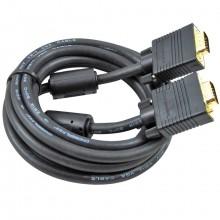 Шнур VGA (HD 15 Pin) - VGA (HD 15 Pin) OD8.0мм 5.0м позолоченный