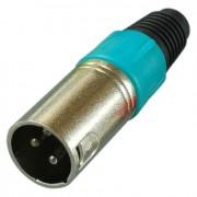 Цанговый разъём XLR 3P (шт.) на кабель, зелёный