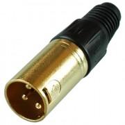 Цанговый разъём XLR 3P (шт.) на кабель, позолоченный
