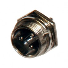 Разъём MIC 3P (шт.) на корпус металлический