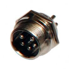 Разъём MIC 5P (шт.) на корпус металлический
