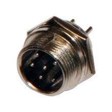 Разъём MIC 6P (шт.) на корпус металлический